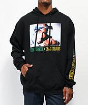 Cross Colours Tupac Blue Bandana Black Hoodie