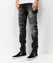 Crysp Skywalker Black Stone Moto Jeans