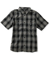 bd55d6ab1 DC Boys Winthrop Black & Grey Plaid Button Up Shirt | Zumiez