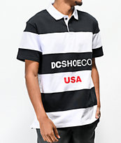 DC Finterwald Black & White Polo Shirt
