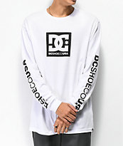 DC Square Star camiseta blanca de manga larga