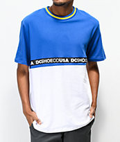 DC Walkley camiseta tejida en blanco y azul