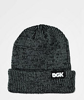 DGK Classic Heathered Black Beanie