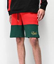 DGK Grand shorts de punto negro, rojo y verde