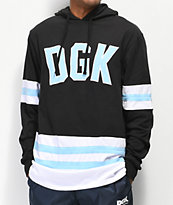 DGK Hockey Black, Mint Blue & White Long Sleeve Hoodie