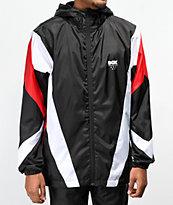 DGK Mirage chaqueta cortavientos negra, roja y blanca