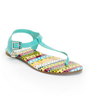 DV8 Asher Capri Teal Sandals