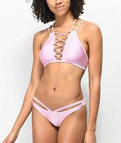 Damsel Shimmer Pink Cheeky Bikini Bottom