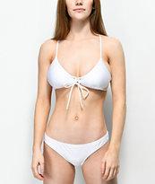 Damsel Shimmer White Cheeky Bikini Bottom
