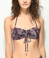 Damsel Tropico Bramble Pique Bandeau Bikini Top