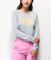Danny Duncan Virginity Rocks Heather Grey Long Sleeve T-Shirt