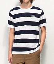 Dark Seas Mondo Striped White & Navy T-Shirt