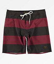 363b45bdb1acd Dark Seas Overtide Black & Burgundy Board Shorts   Zumiez