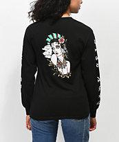 Dark Seas Sea Woman Black Long Sleeve T-Shirt