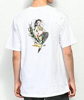 Dark Seas Upstream camiseta blanca