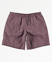 Deathworld Warm Up Purple Elastic Waistband Shorts