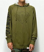 Diamond Brilliant Army Green Hoodie