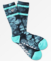 Diamond Brilliant Tie Dye Crew Socks