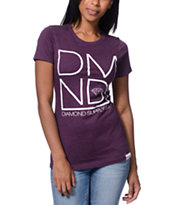 Diamond Supply Co DMND Plum Boyfriend Fit Tee Shirt