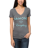 Diamond Supply Co Diamond Everything Charcoal V-Neck T-Shirt