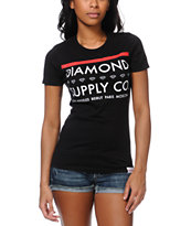 Diamond Supply Co Roots Black Tee Shirt