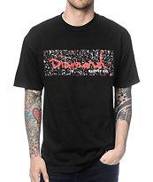 Diamond Supply Co Splatter Box Logo Black & Red T-Shirt