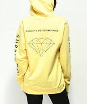 Diamond Supply Co. Brilliant sudadera con capucha amarilla