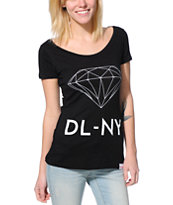 Diamond Supply Co. DL-NY Black Scoop Neck Tee Shirt