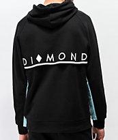 Diamond Supply Co. Fordham sudadera con capucha negra