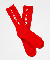 Diamond Supply Co. Hobbs Red Crew Socks