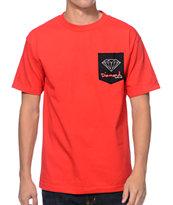 Diamond Supply Co. OG Sign Red Pocket T-Shirt