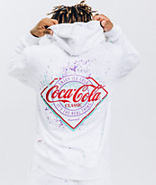 Diamond Supply Co. x Coca-Cola Splatter Paint White Hoodie