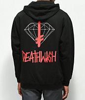 Diamond Supply Co. x Deathwish sudadera con capucha negra
