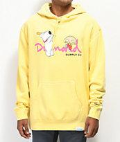 Diamond Supply Co. x Family Guy OG Script Yellow Hoodie