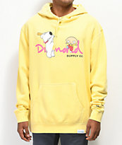 Diamond Supply Co. x Family Guy OG Script sudadera con capucha amarilla