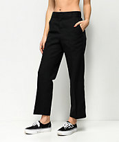 Dickies 67 Crop Ankle Black Work Pants