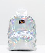 Dickies mini mochila con diseño de holograma plateado