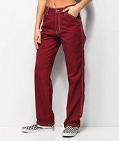 Dickies pantalones de carpintero borgoña