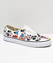 81c9304e190 Disney by Vans Authentic Mickey s Birthday True White Skate Shoes ...