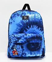 Disney by Vans Mickey Fantasia Blue Tie Dye Old Skool II Backpack