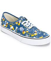 Disney x Vans Authentic Donald Duck Skate Shoes