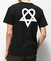 Element x BAM x HIM Heartagram V2 camiseta negra