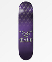 "Element x Bam x HIM Bam Tattoo Purple 8.0"" Skateboard Deck"