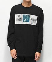 Element x Polaroid Brandon Westgate camiseta negra de manga larga