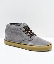 Emerica x Pendleton Wino G6 Mid Grey & Gum Skate Shoes
