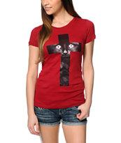 Empyre Black Cat Cross T-Shirt