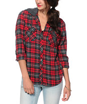 Empyre Bristol Red Hooded Flannel