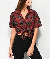Empyre Hilo camisa de tartán rojo