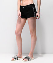 Empyre Jenna Black & Checkered Stripe Shorts