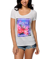 Empyre Live In The Moment Scoop Neck Tee Shirt